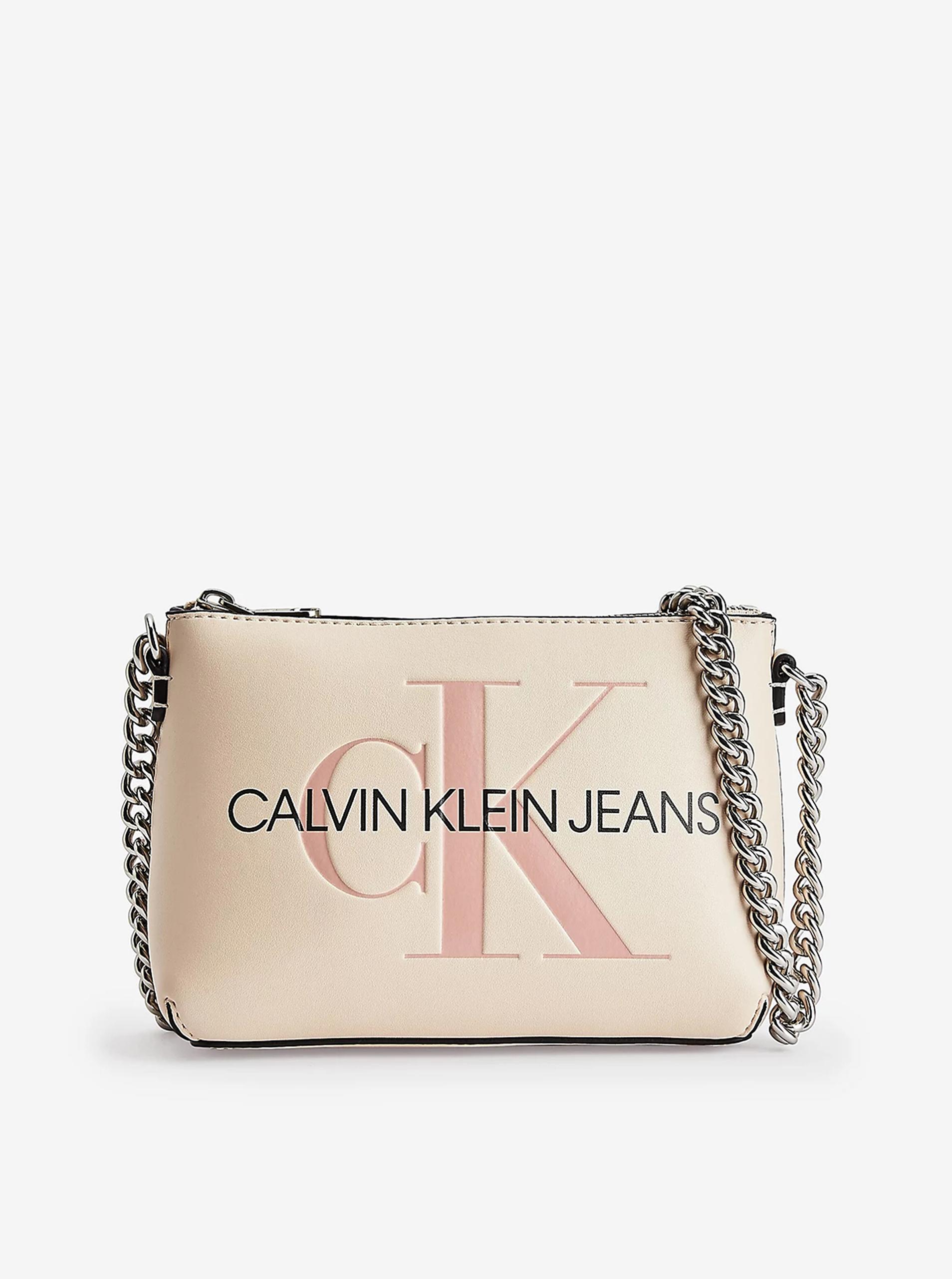 Calvin Klein écru/kremowy crossbody torebka