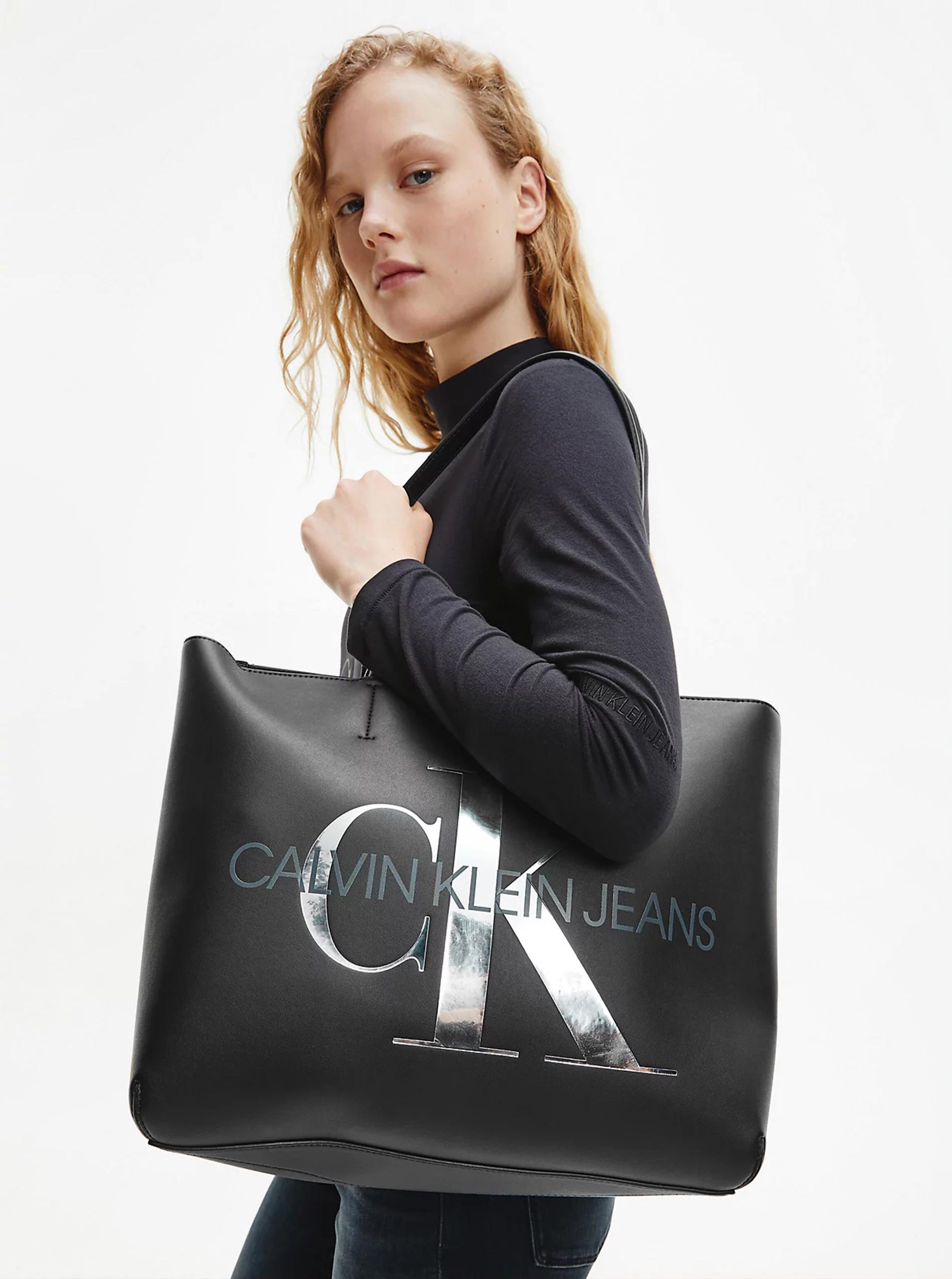 Calvin Klein czarny shopper