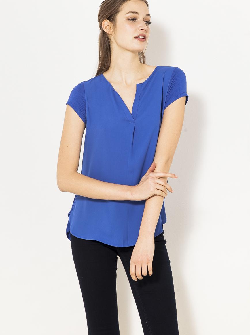 CAMAIEU Bluzka damska niebieski