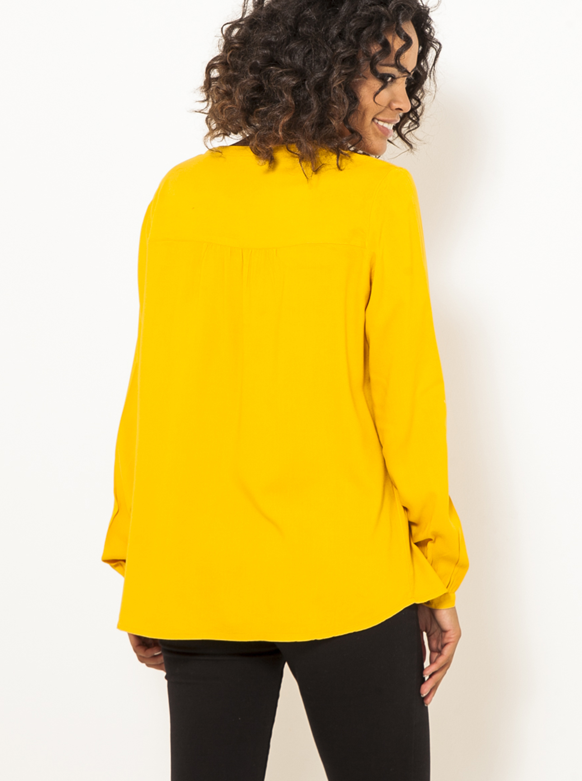 CAMAIEU Bluzka damska żółty