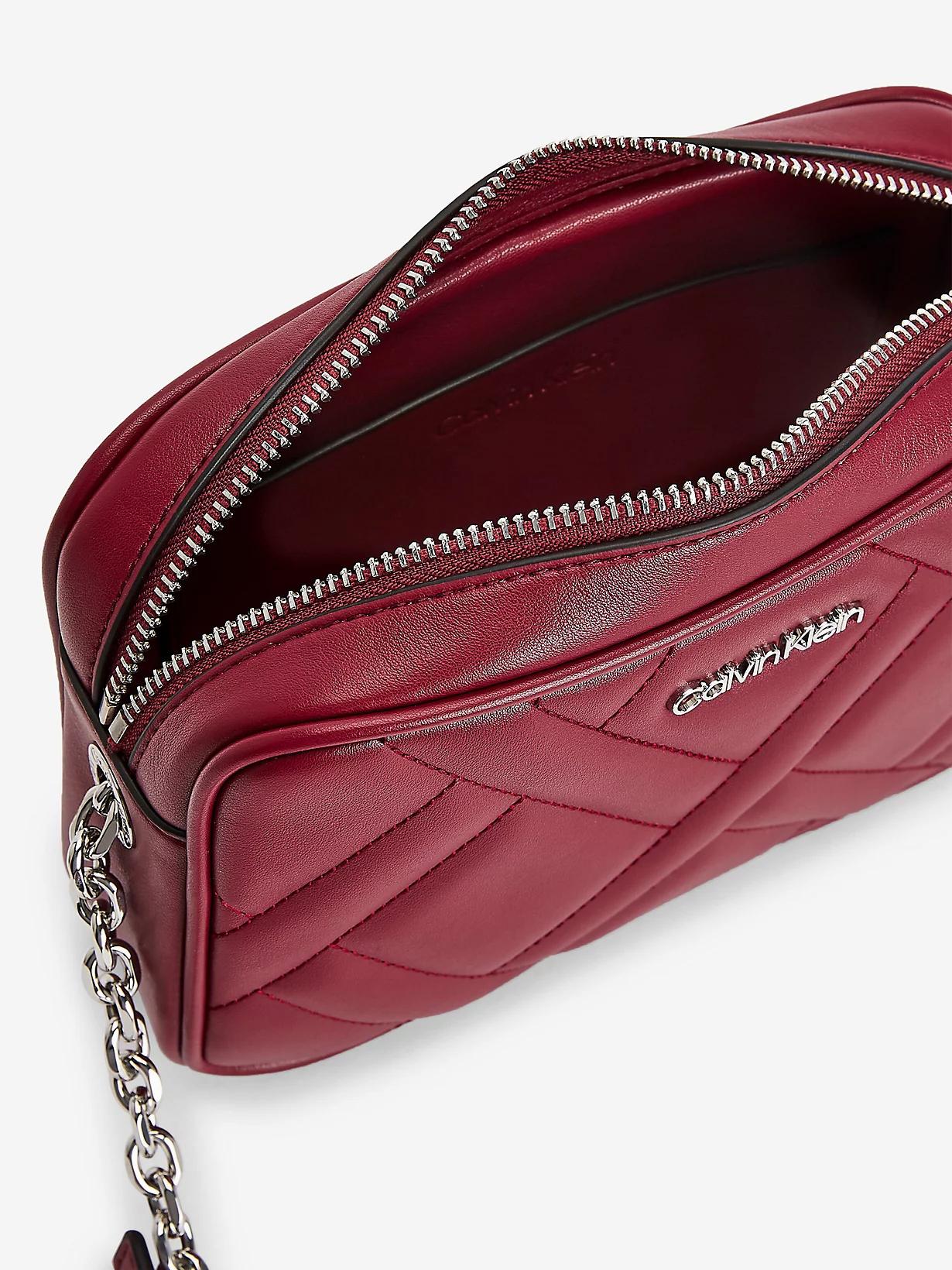 Calvin Klein wiśniowy/bordowy crossbody torebka