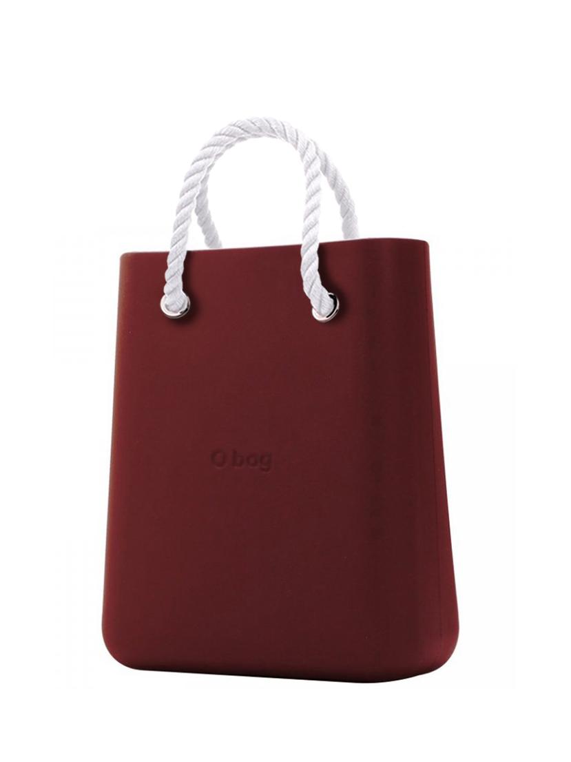 O bag  torebka O Chic Bordeaux z krótkimi białymi linami