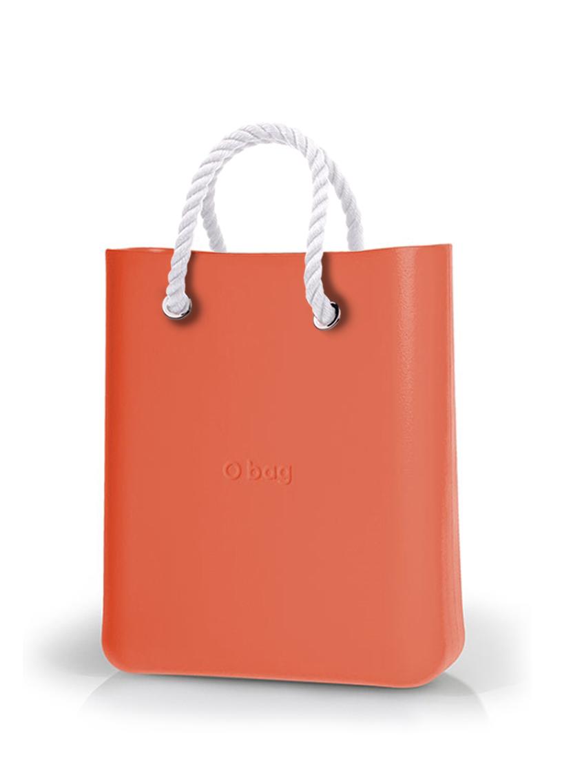 O bag  O Chic torebka Papaya z krótkimi białymi linami