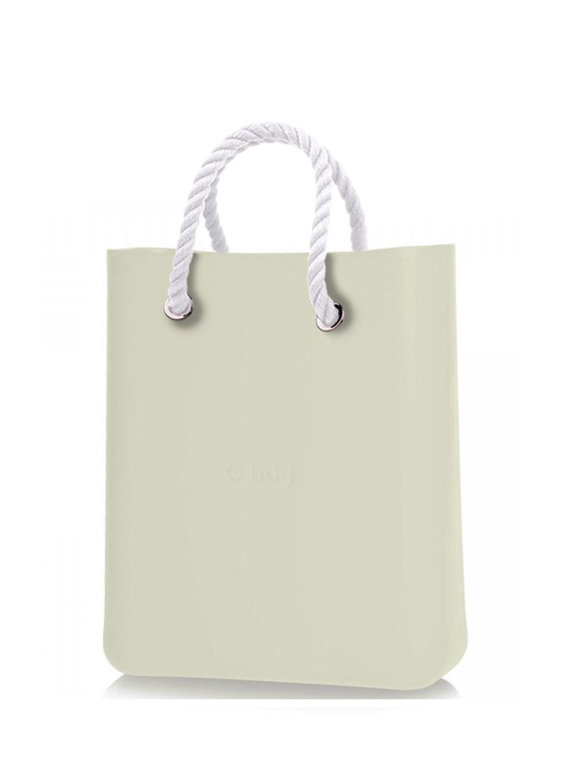 O bag  O Chic torebka Ivory z krótkimi białymi linami