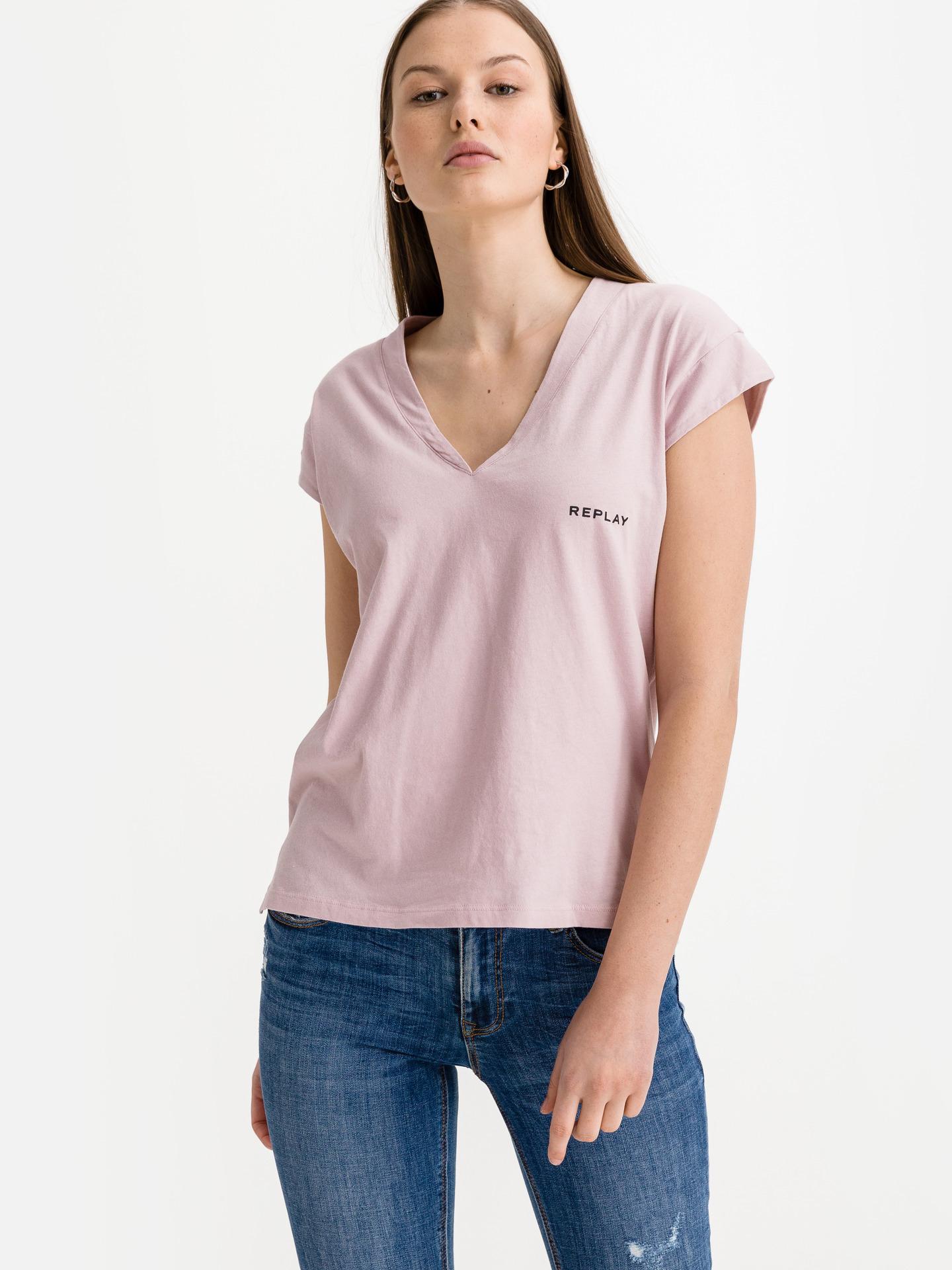 Replay Koszulka damska różowy