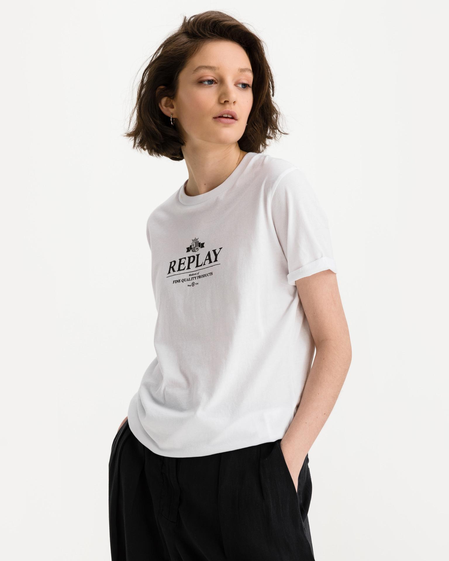 Replay Koszulka damska biały