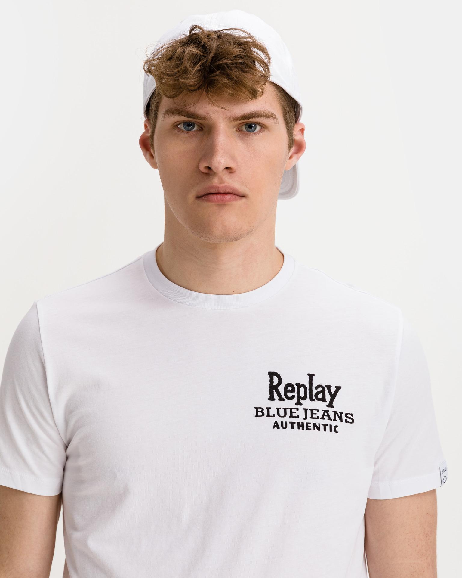 Replay Koszulka damska biały  Jeans
