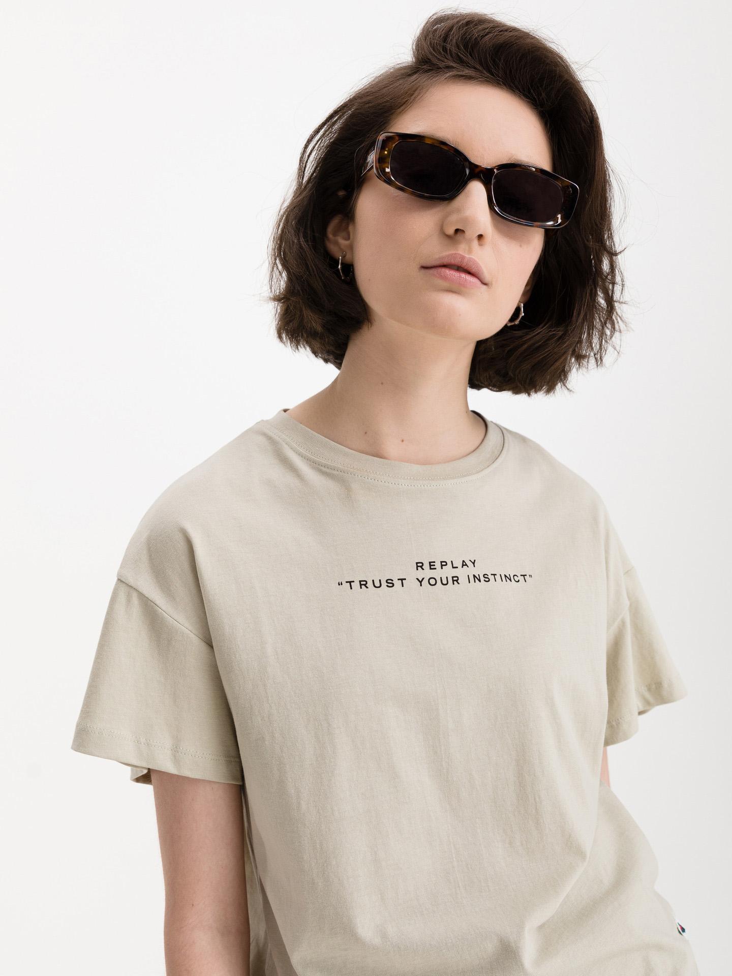 Replay Koszulka damska zielony
