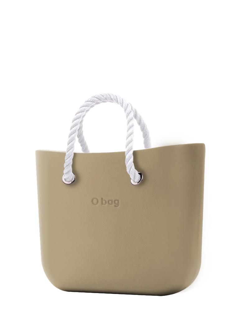 O bag  torebka Sabbia z krótkimi białymi linami