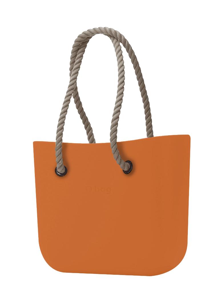 O bag  pomarańczowy torebka Mattone z długimi linami natural
