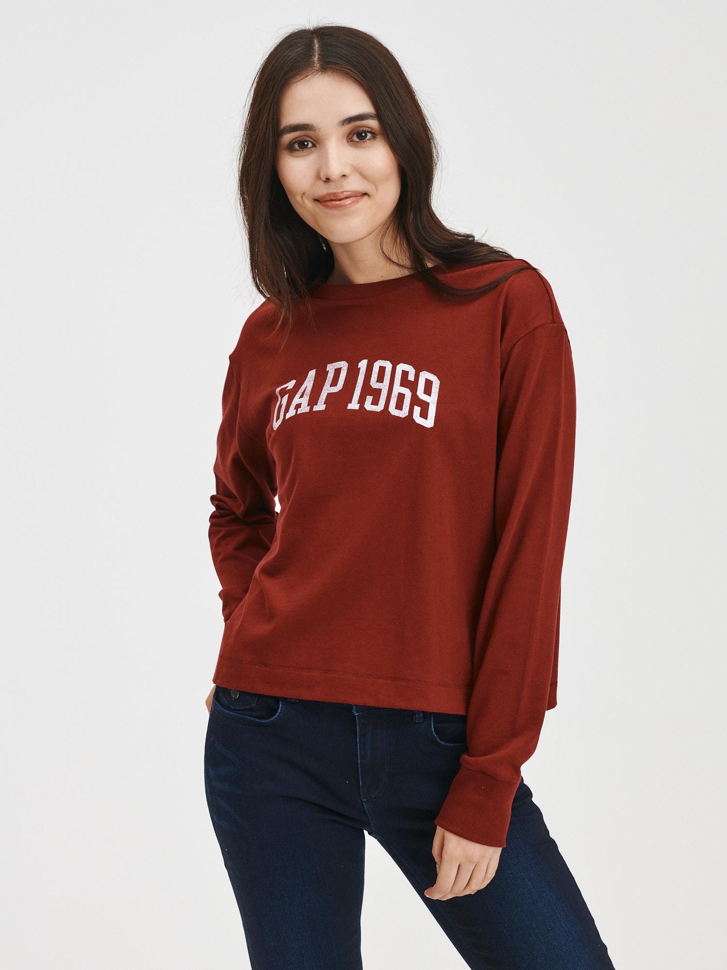 GAP Koszulki, topy damskie czerwony 1969