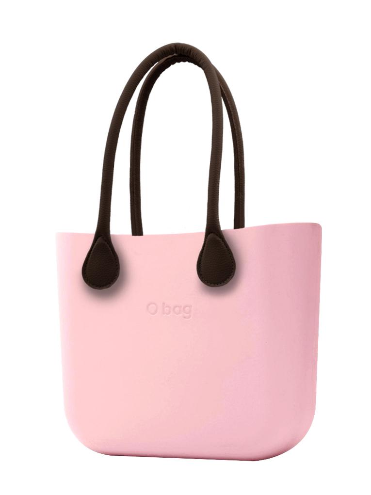 O bag  torebka Cipria z długimi brązowymi uchwytami ze skajki