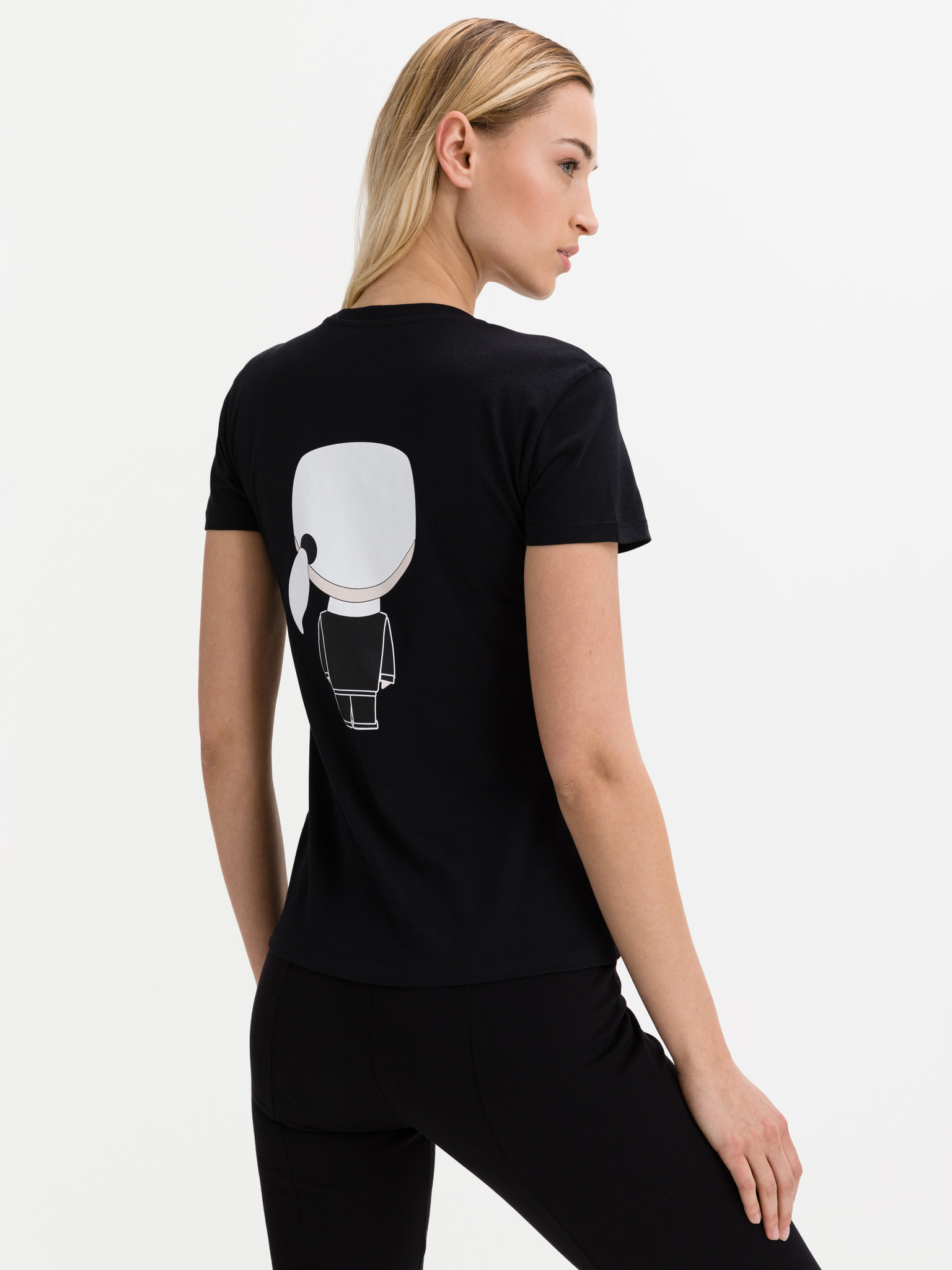 KARL LAGERFELD Koszulka damska czarny  Karl