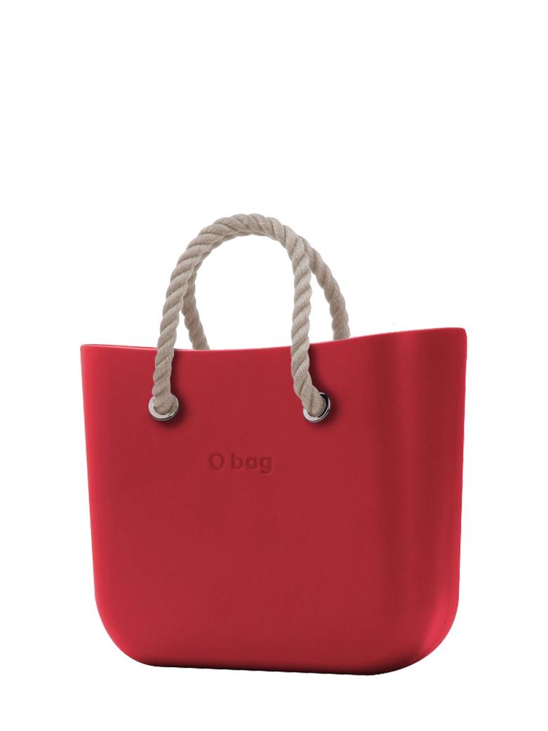 O bag  torebka Rosso z krótkimi linami natural
