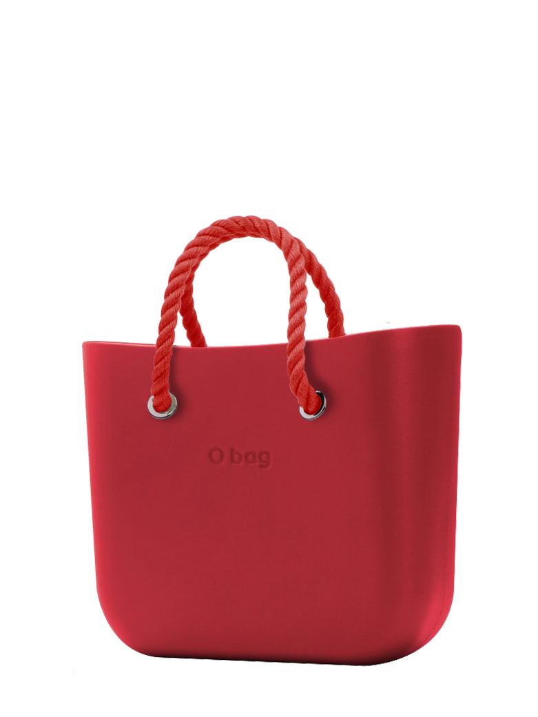 O bag  torebka Rosso z krótkimi czerwonymi linami