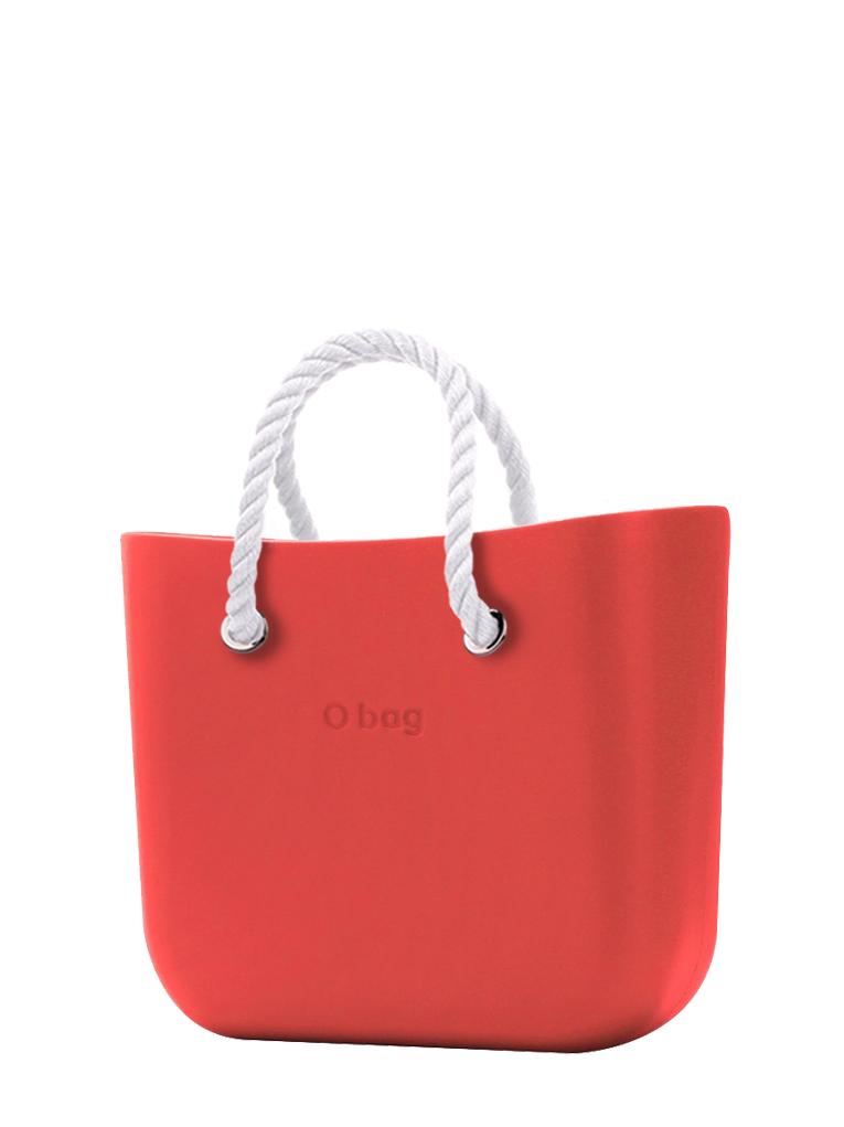O bag  torebka Fragola z krótkimi białymi linami