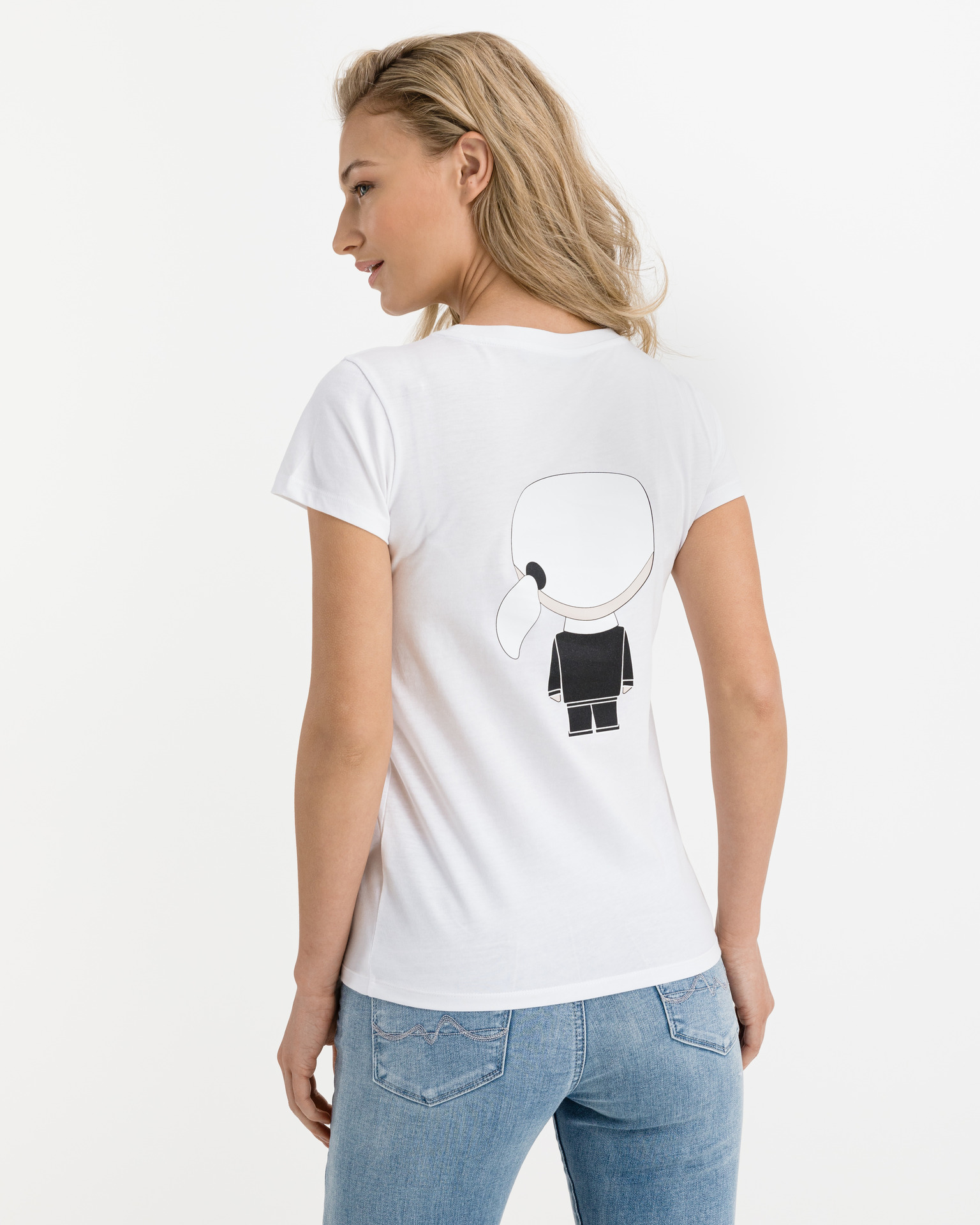 KARL LAGERFELD Koszulka damska biały Triko