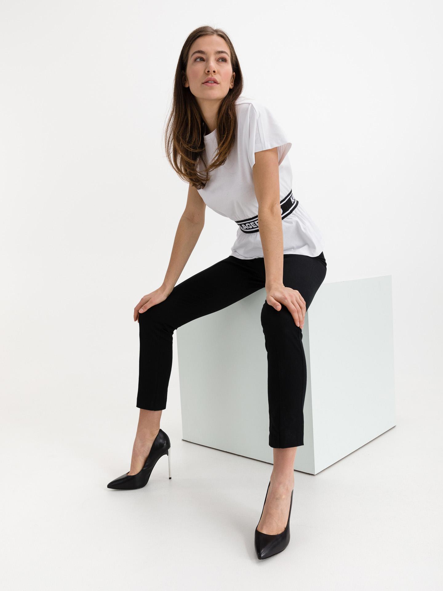 KARL LAGERFELD Koszulka damska biały  Tape