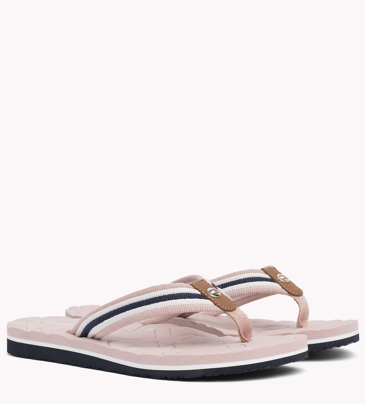 Zehentrenner TOMMY HILFIGER Comfort Low Beach Sandal FW0FW02368 Dusty Rose 502