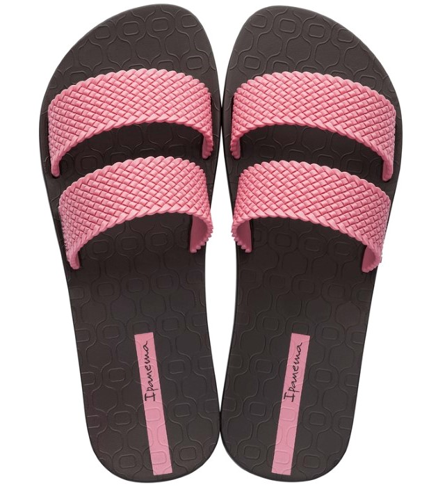 Ipanema brązowe klapki City Fem Brown/ Pink
