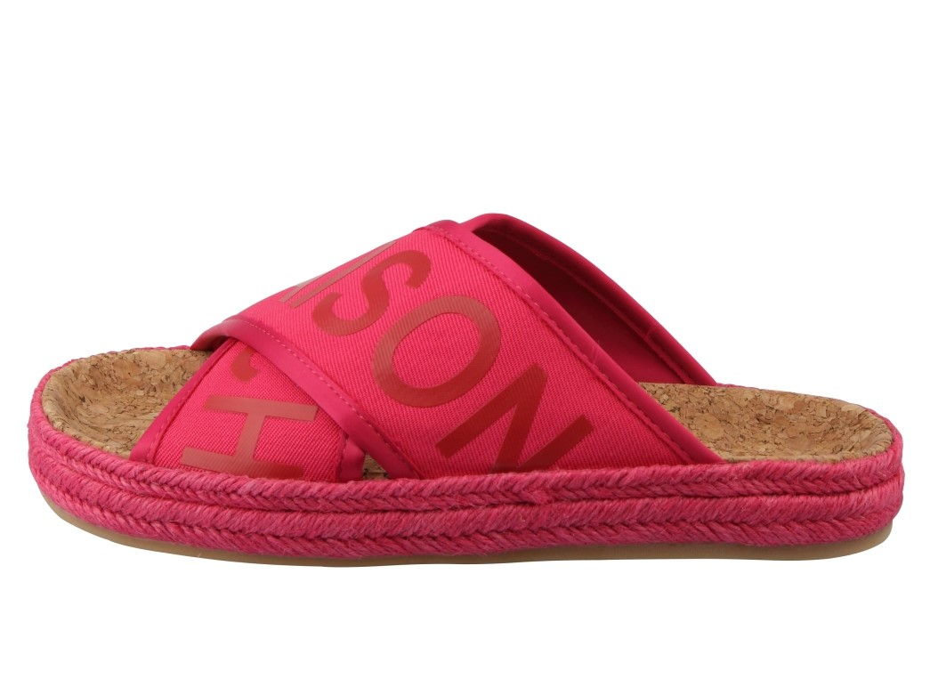 Scotch & Soda malinowe klapki Angle Tropical Pink