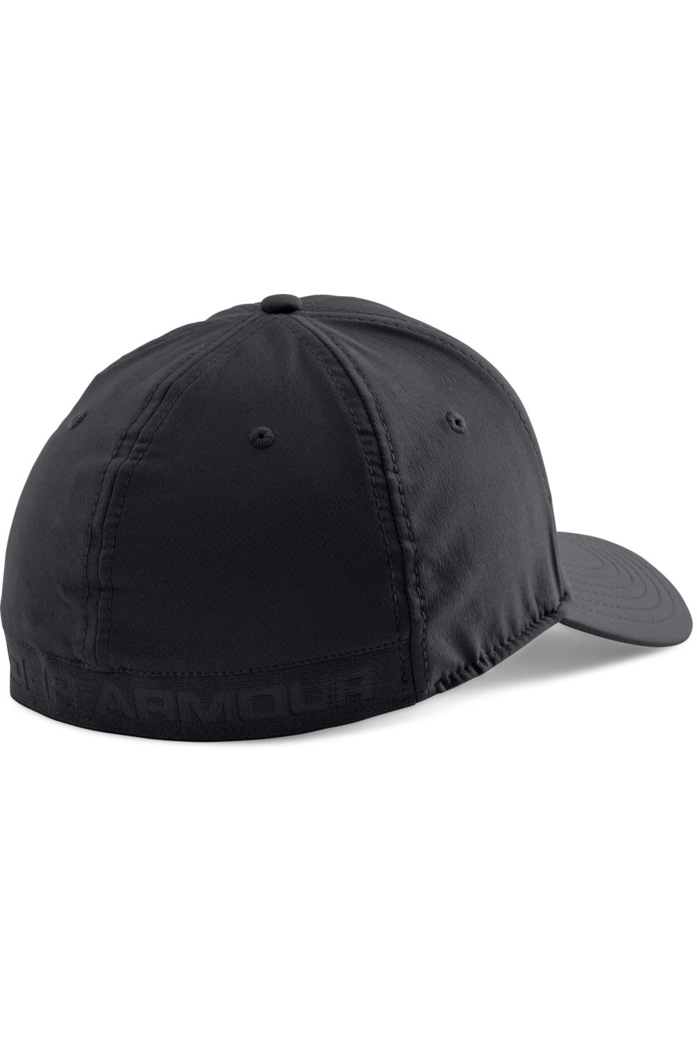 Under Armour czarna męska czapka z daszkiem HeatGear Headline Stretch Fit Cap