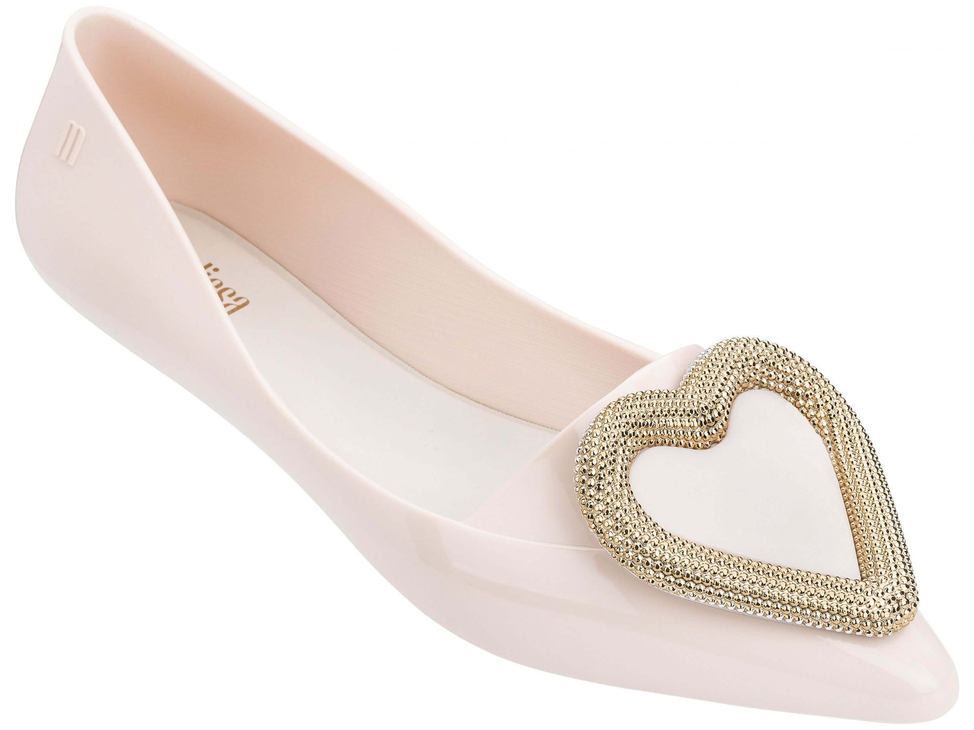 151c10944d1e1f Melissa beżowe balerinki Pointy Heart Nude/Gold - Buty Damskie •  Differenta.pl