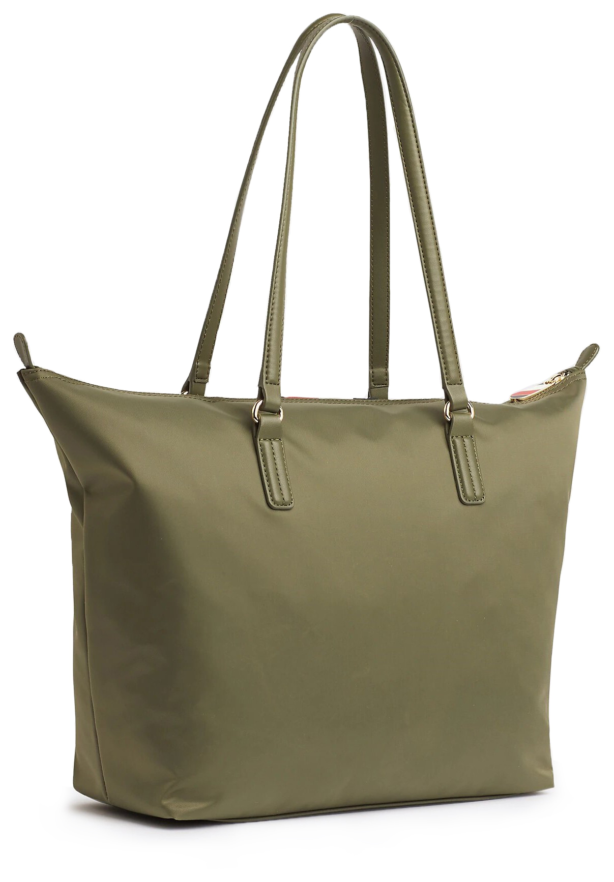 Tommy Hilfiger khaki torebka Poppy Tote Corp Grape Leaf