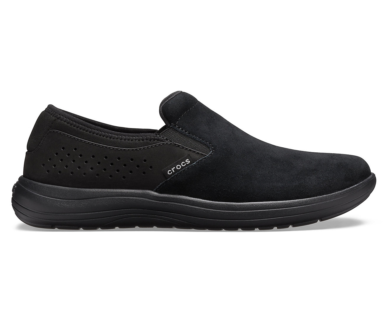 Crocs czarne slip on męskie Crocs Reviva Suede SlipOn Black