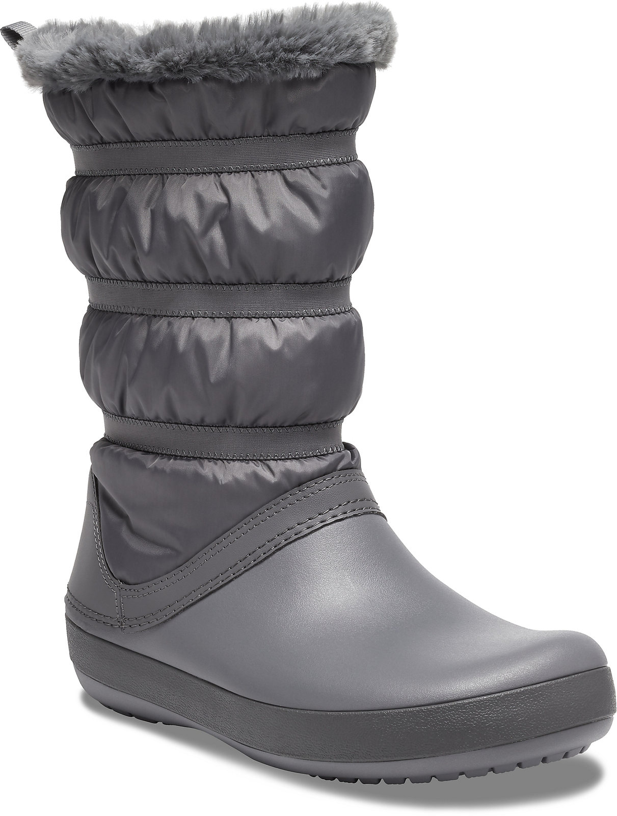 Crocs szare śniegowce Crocband Winter Boot Charcoal