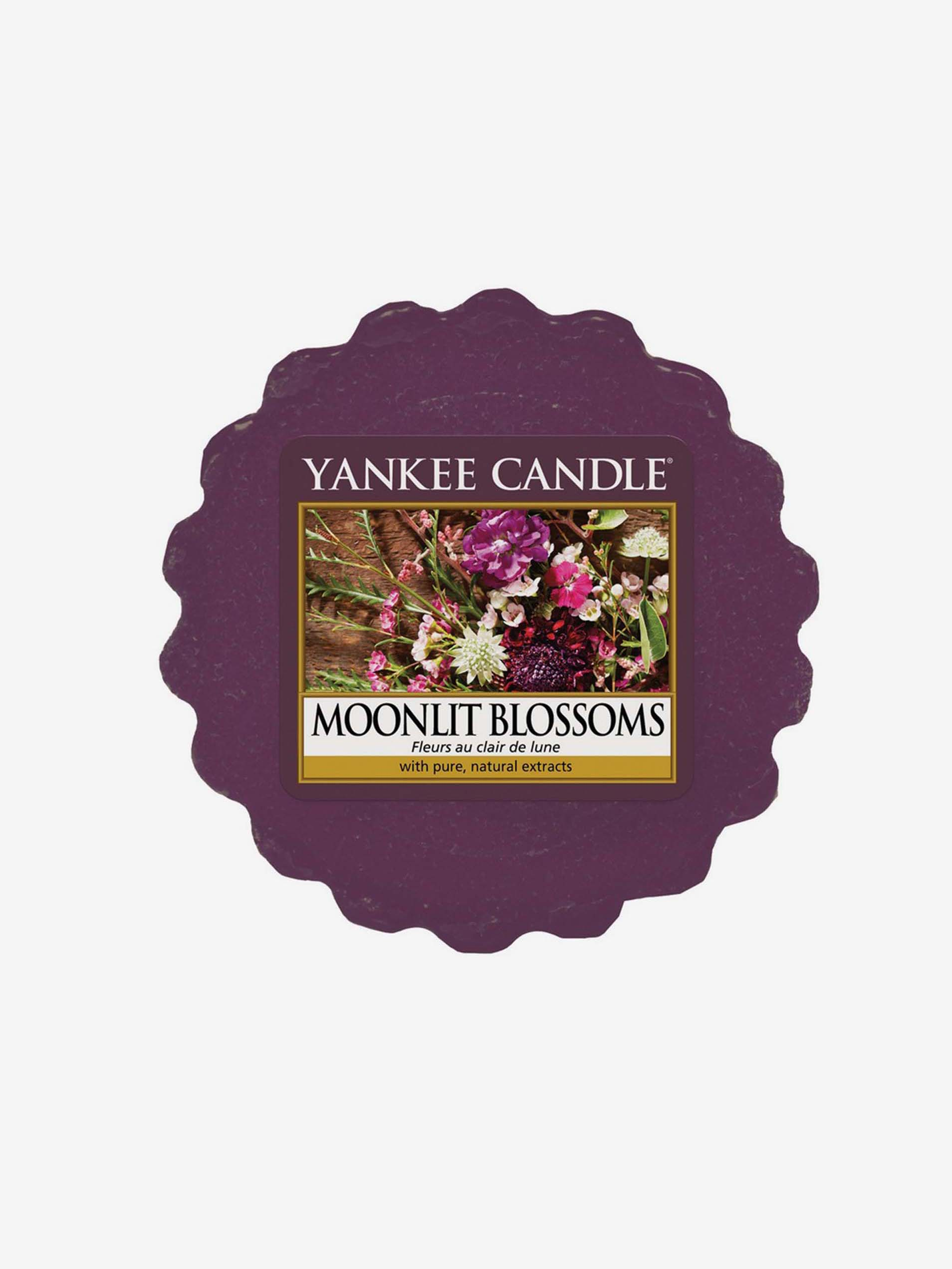 Yankee Candle fioletowe zapachowy wosk do aromalampy Moonlit Blossoms