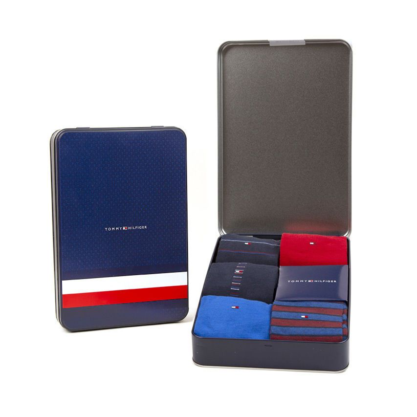 Tommy Hilfiger 5 pack skarpetek męskich TH Men Sharp Stripes Giftbox 5P