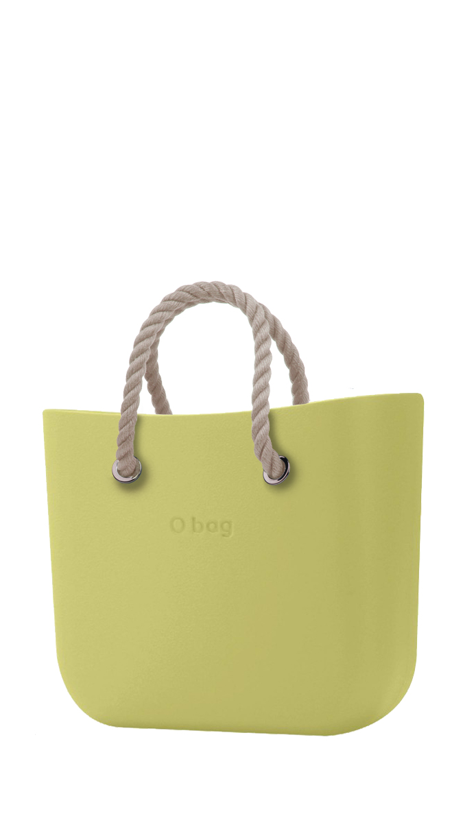 O bag torebka MINI Celery Green z krótkimi linami natural
