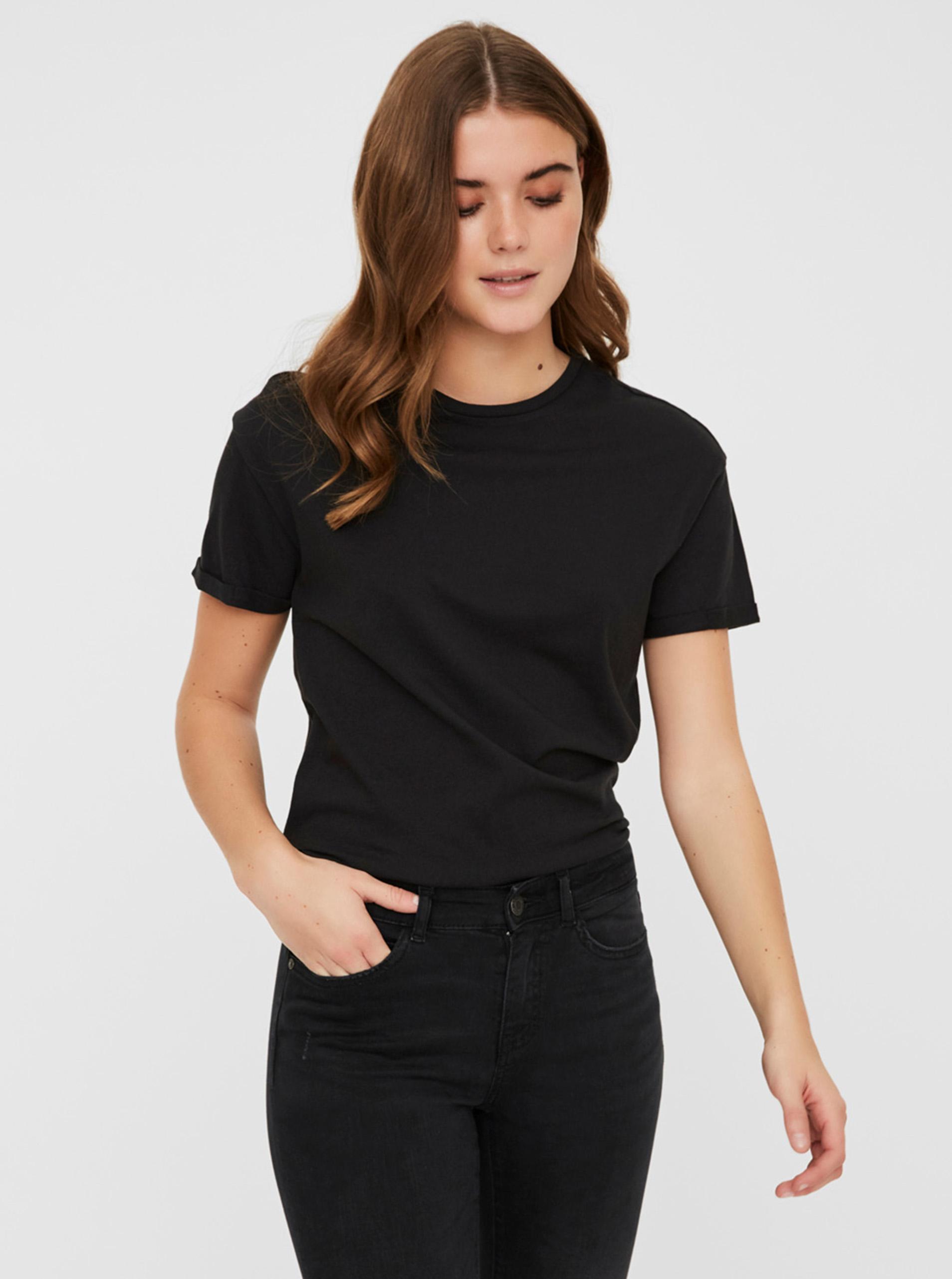 Czarna podstawowa koszulka Noisy May Brandy