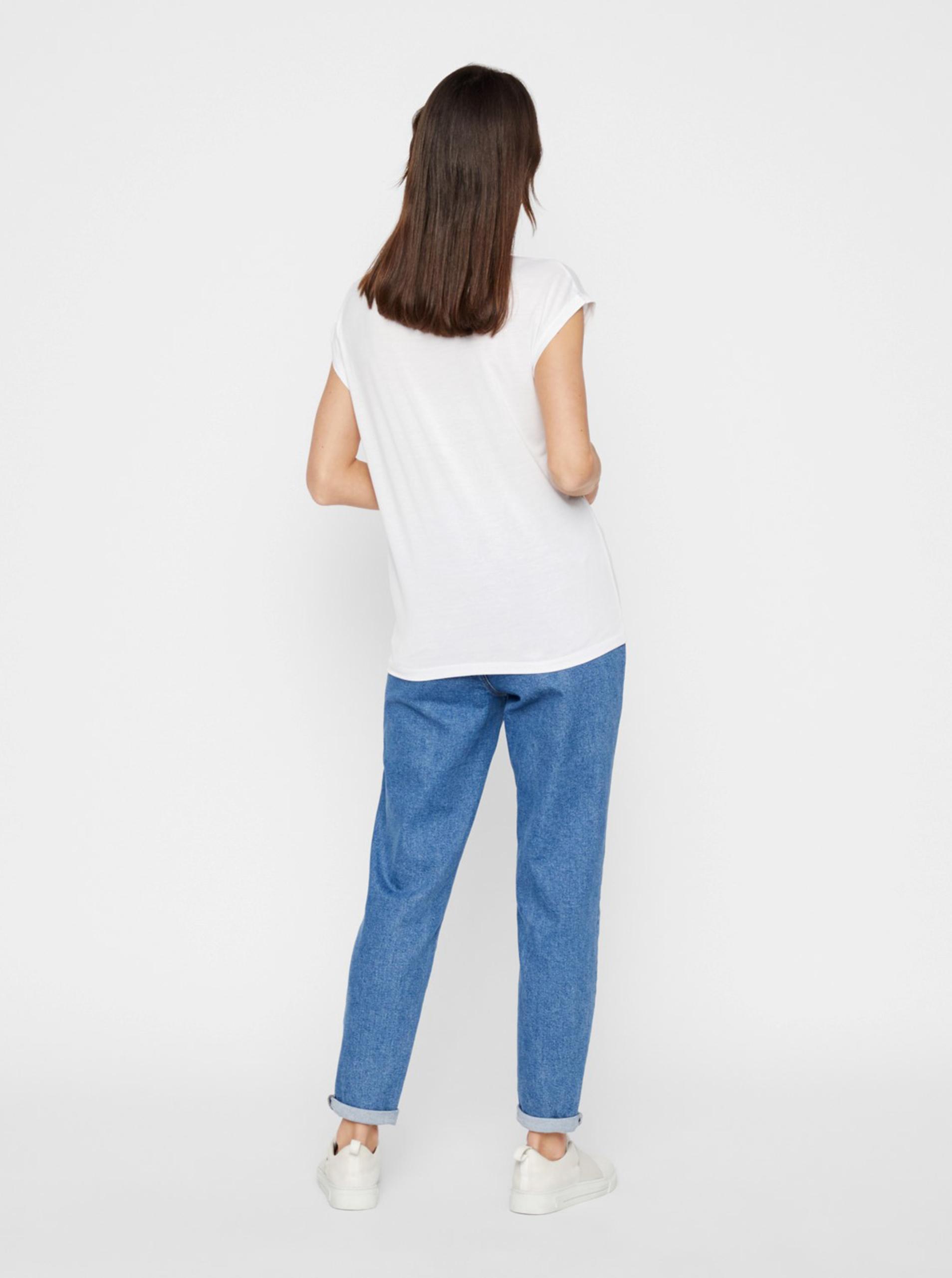 Biała koszulka basic Pieces Billo