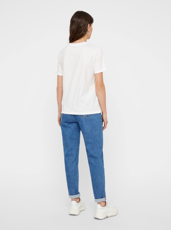 Biała podstawowa koszulka Pieces Ria