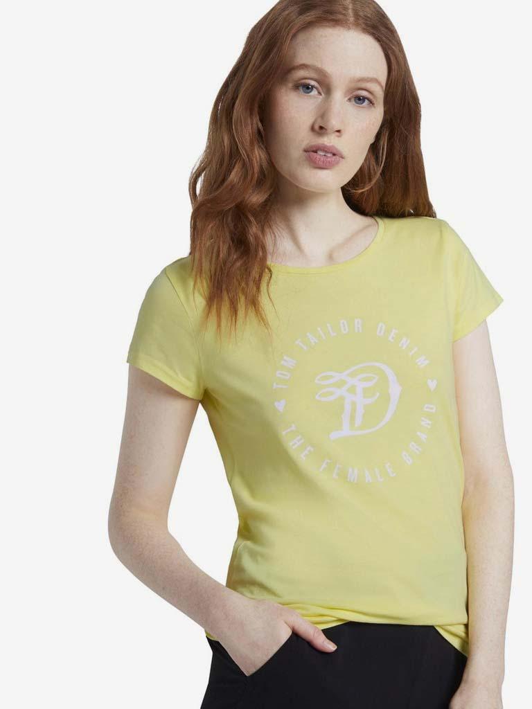Żółta koszulka damska Tom Tailor Denim