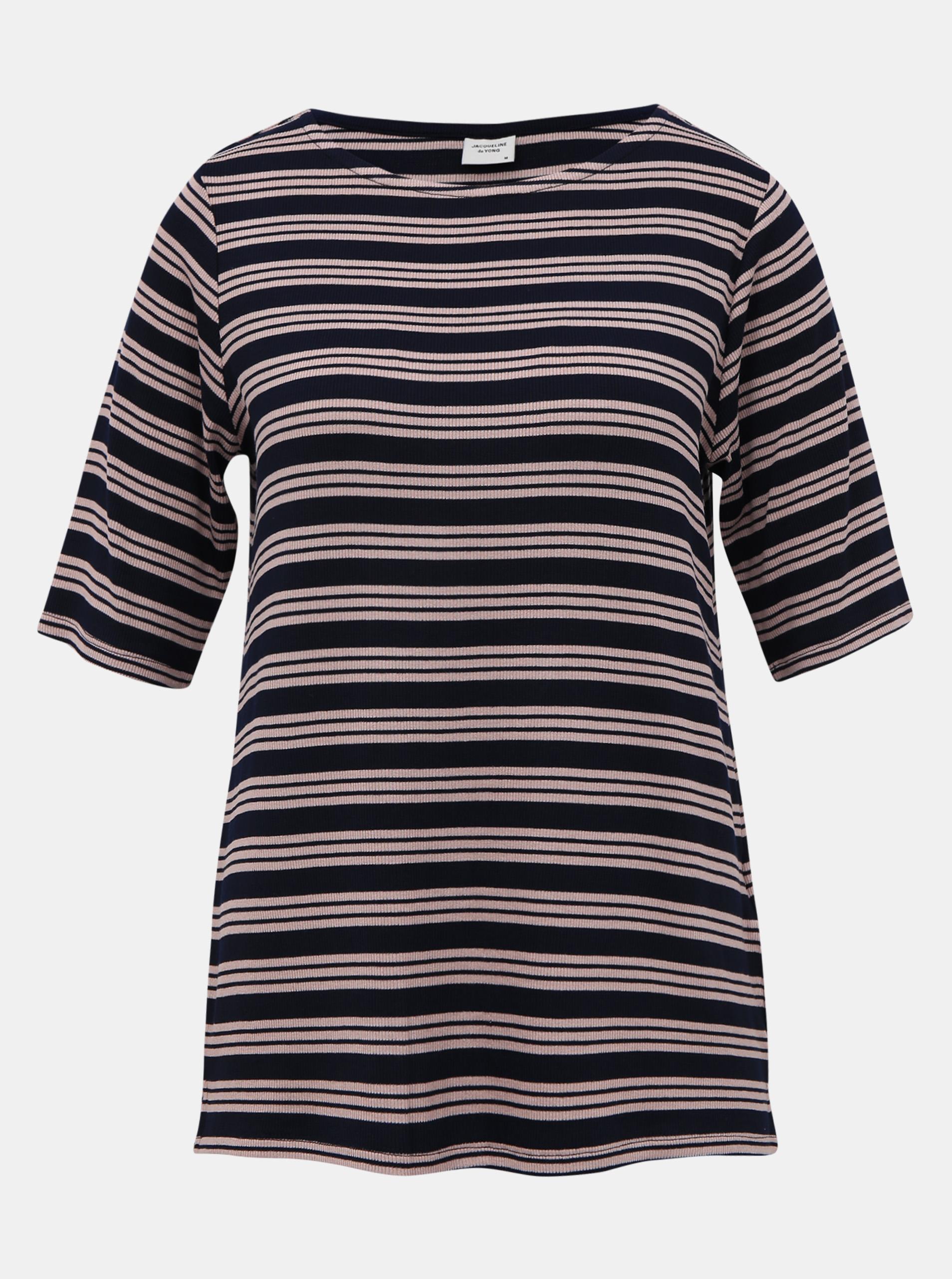 Granatowa koszulka w paski Jacqueline de Yong Camina