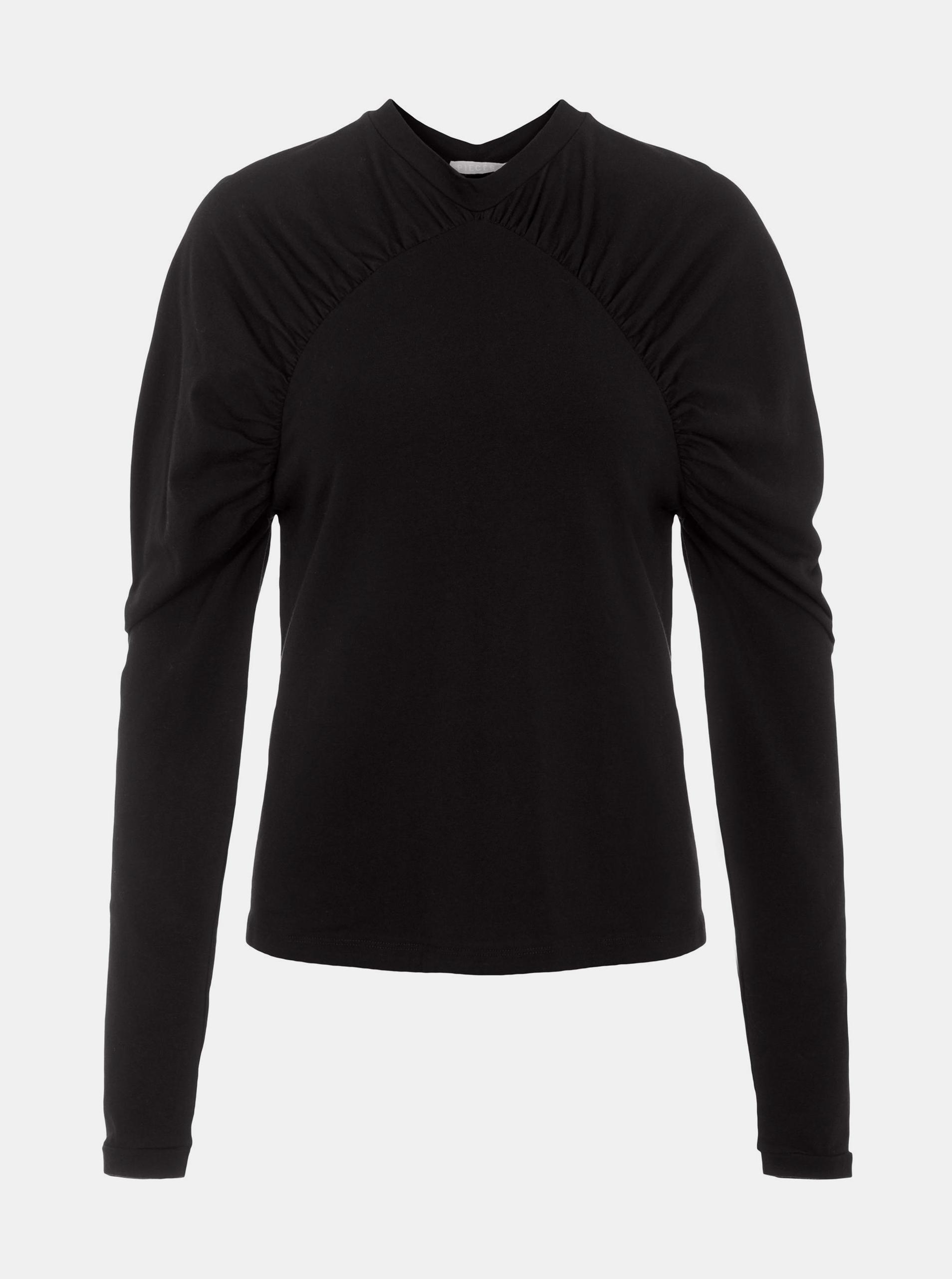 Pieces czarna koszulka damska