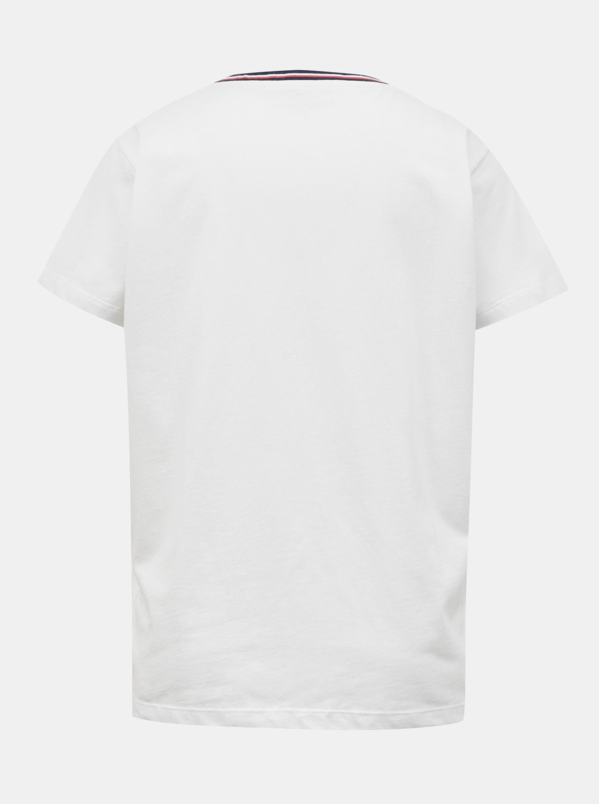 Tommy Hilfiger biały damska koszulka CN TEE SS z logiem