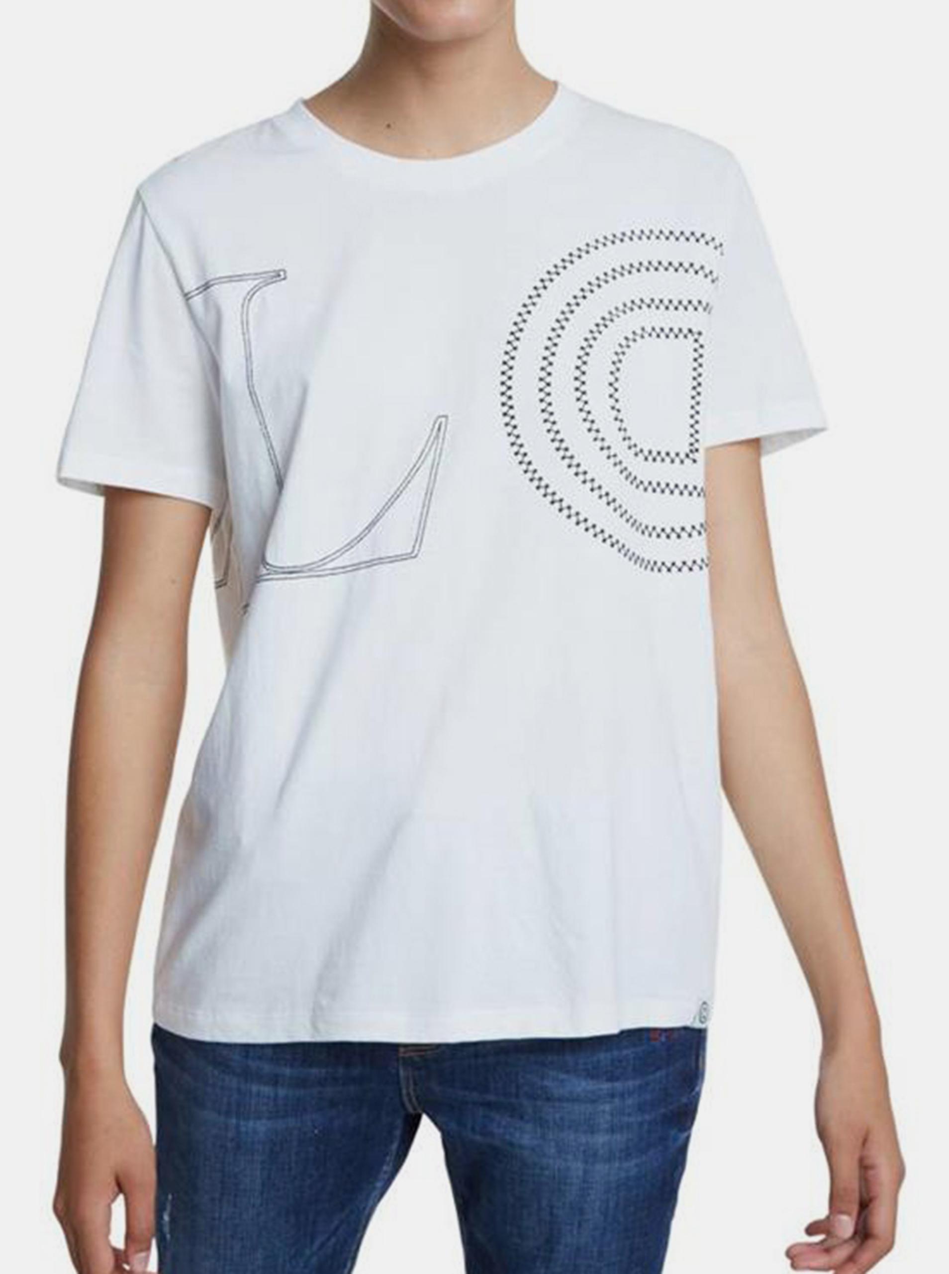 Desigual Koszulka damska biały  TS