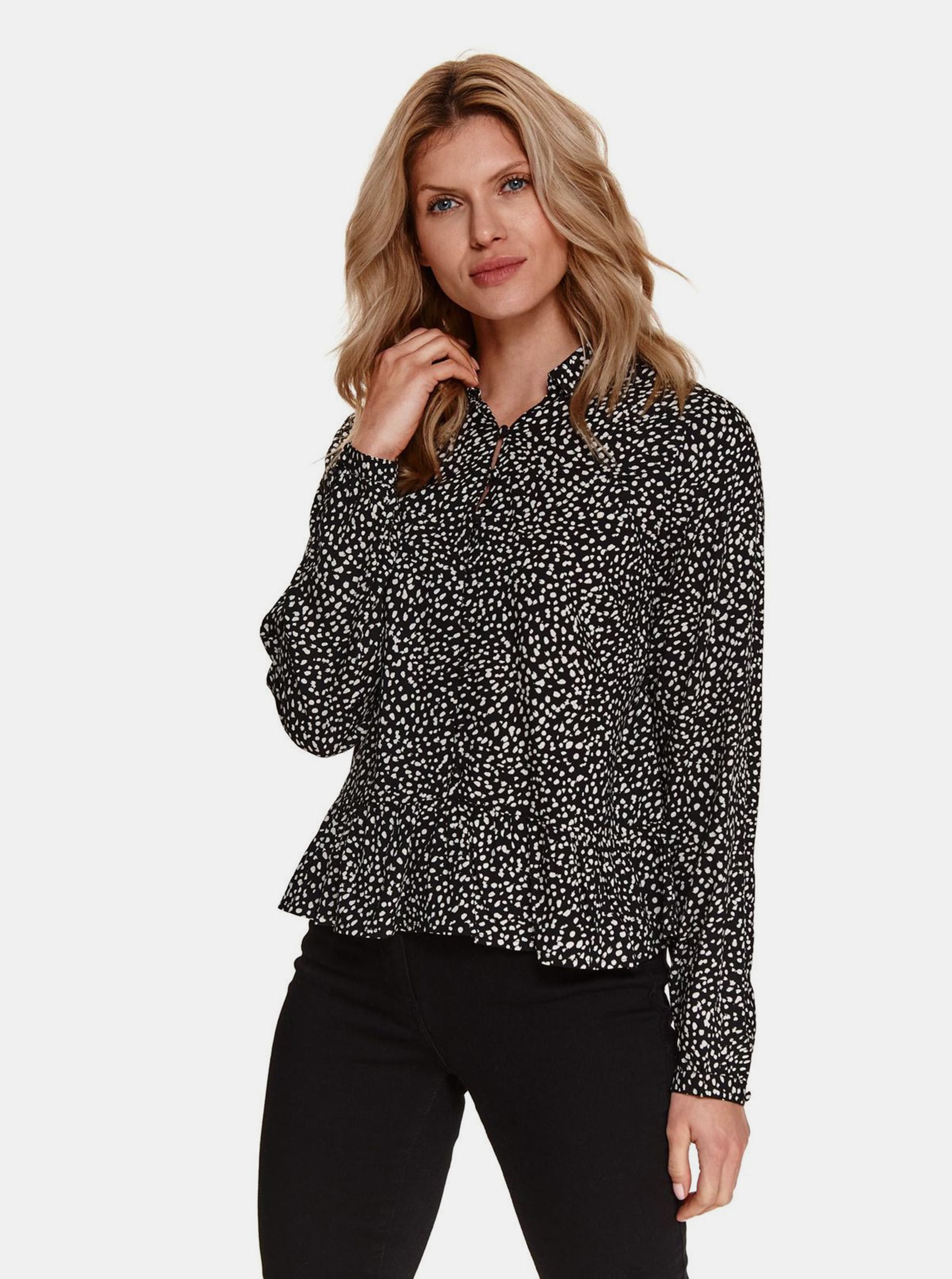 TOP SECRET czarny bluzka z wzorem