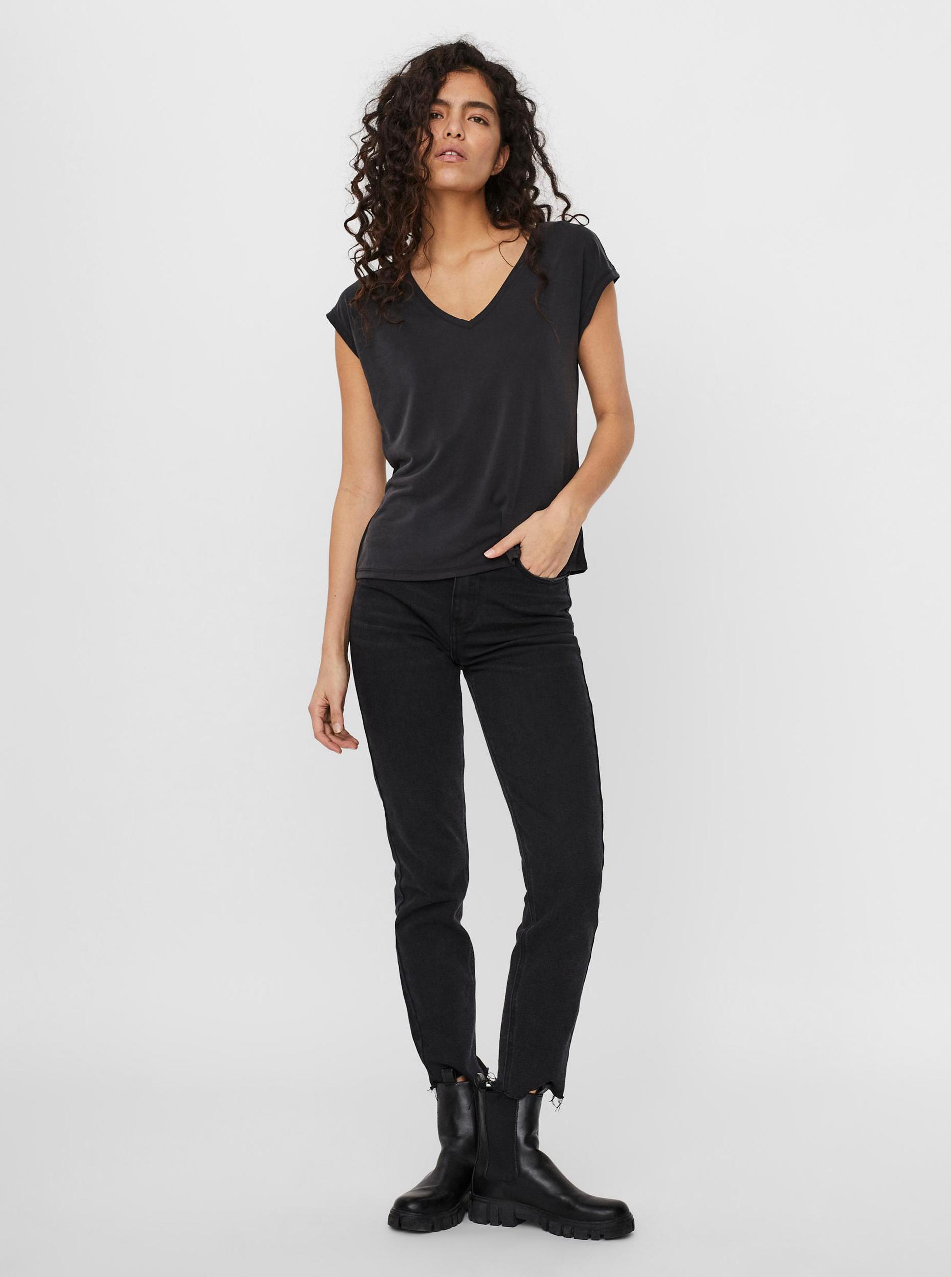 Vero Moda czarny koszulka Filli