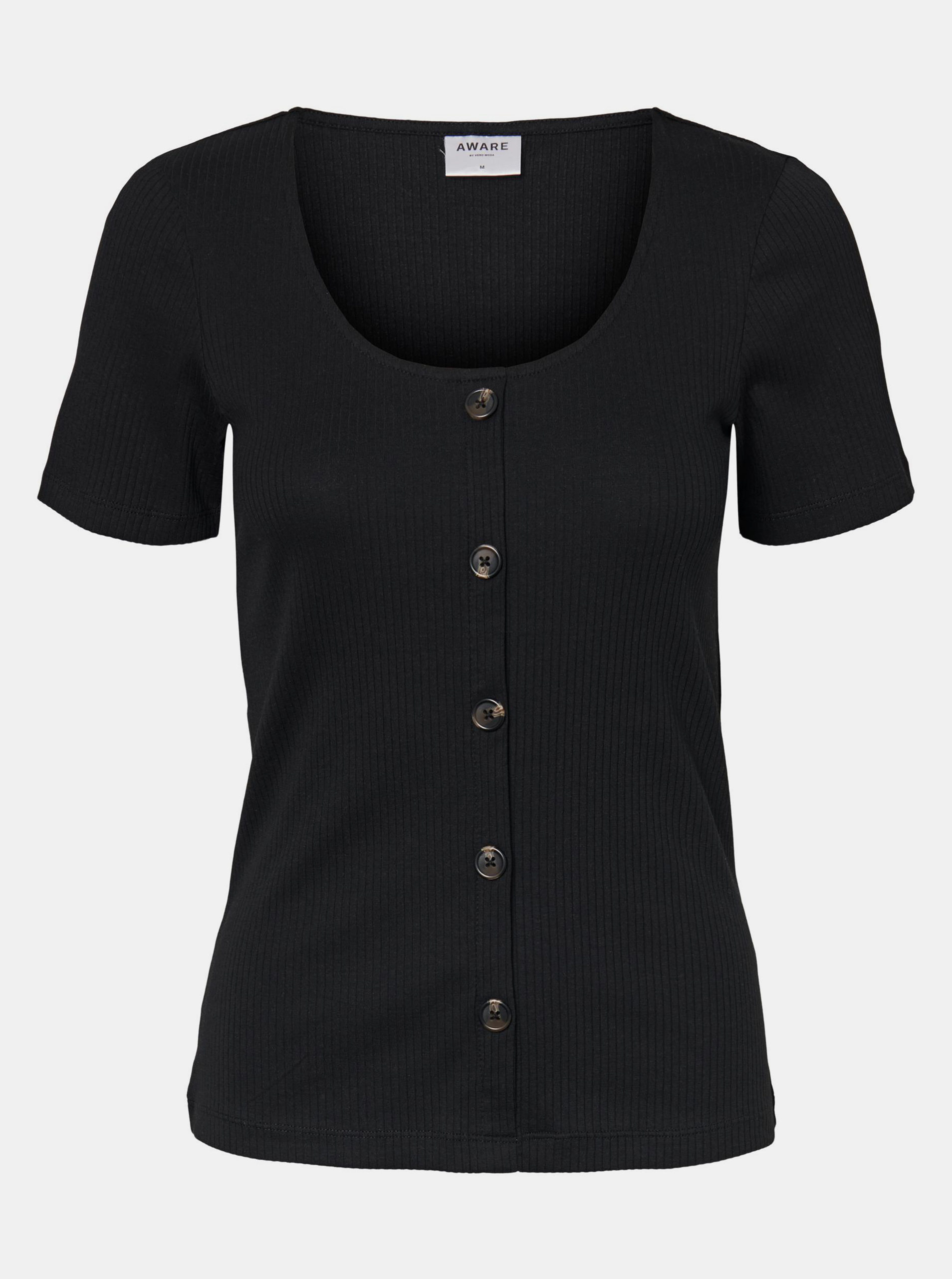 Vero Moda czarny koszulka Helsinki