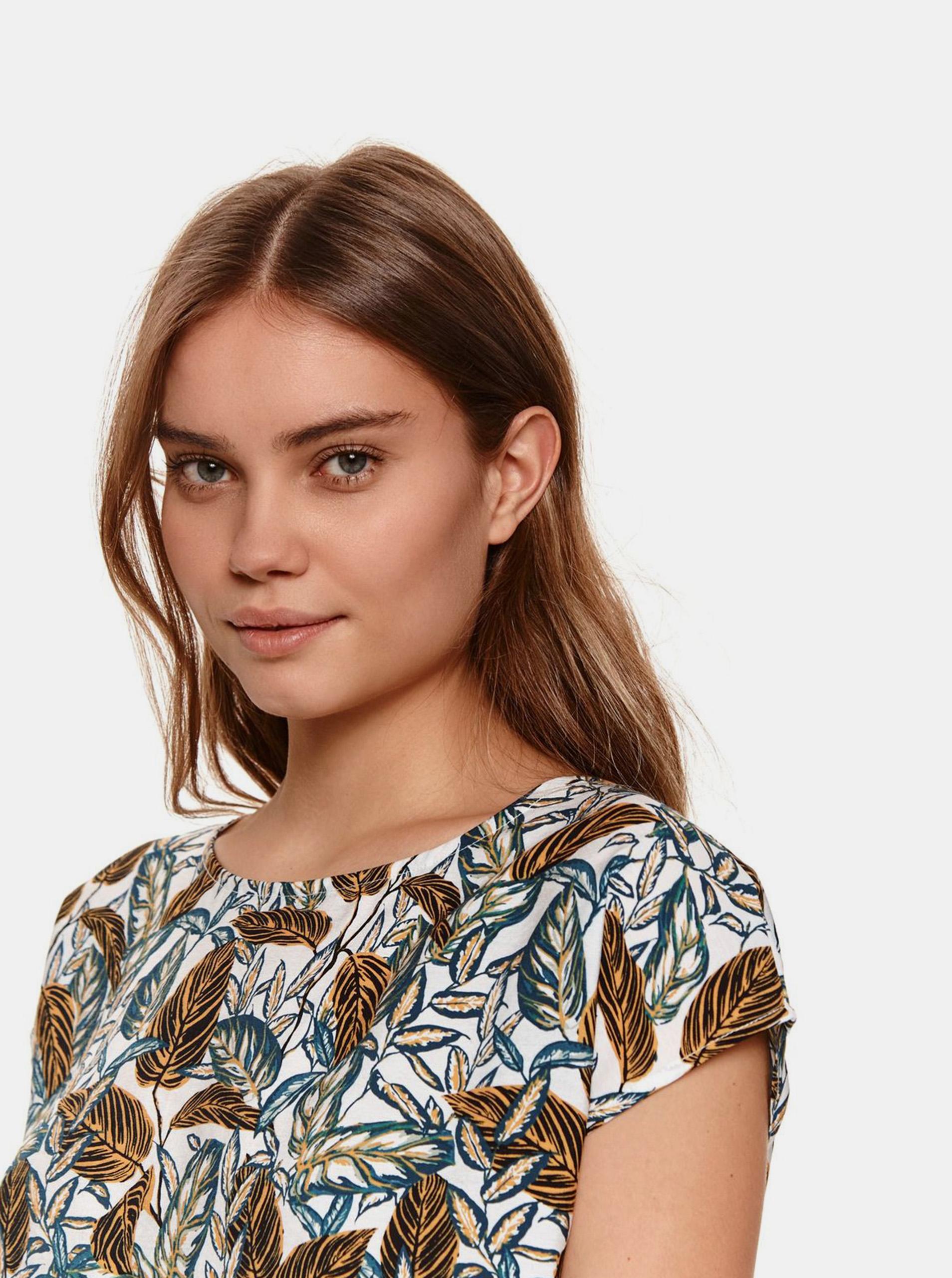 TOP SECRET biały damska koszulka z wzorem
