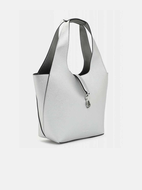 Tamaris srebrny dwustronny shopper