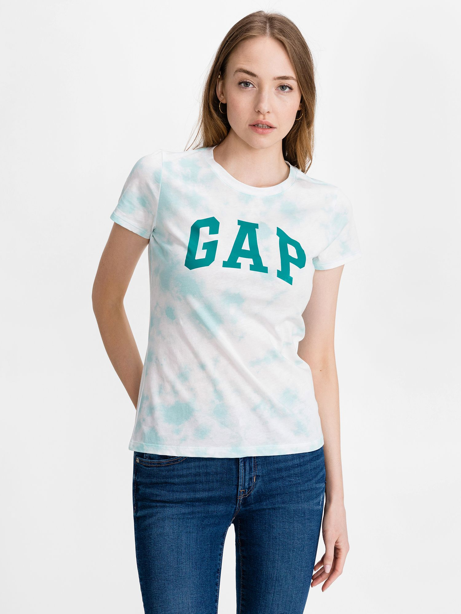 GAP niebieski koszulka Classic