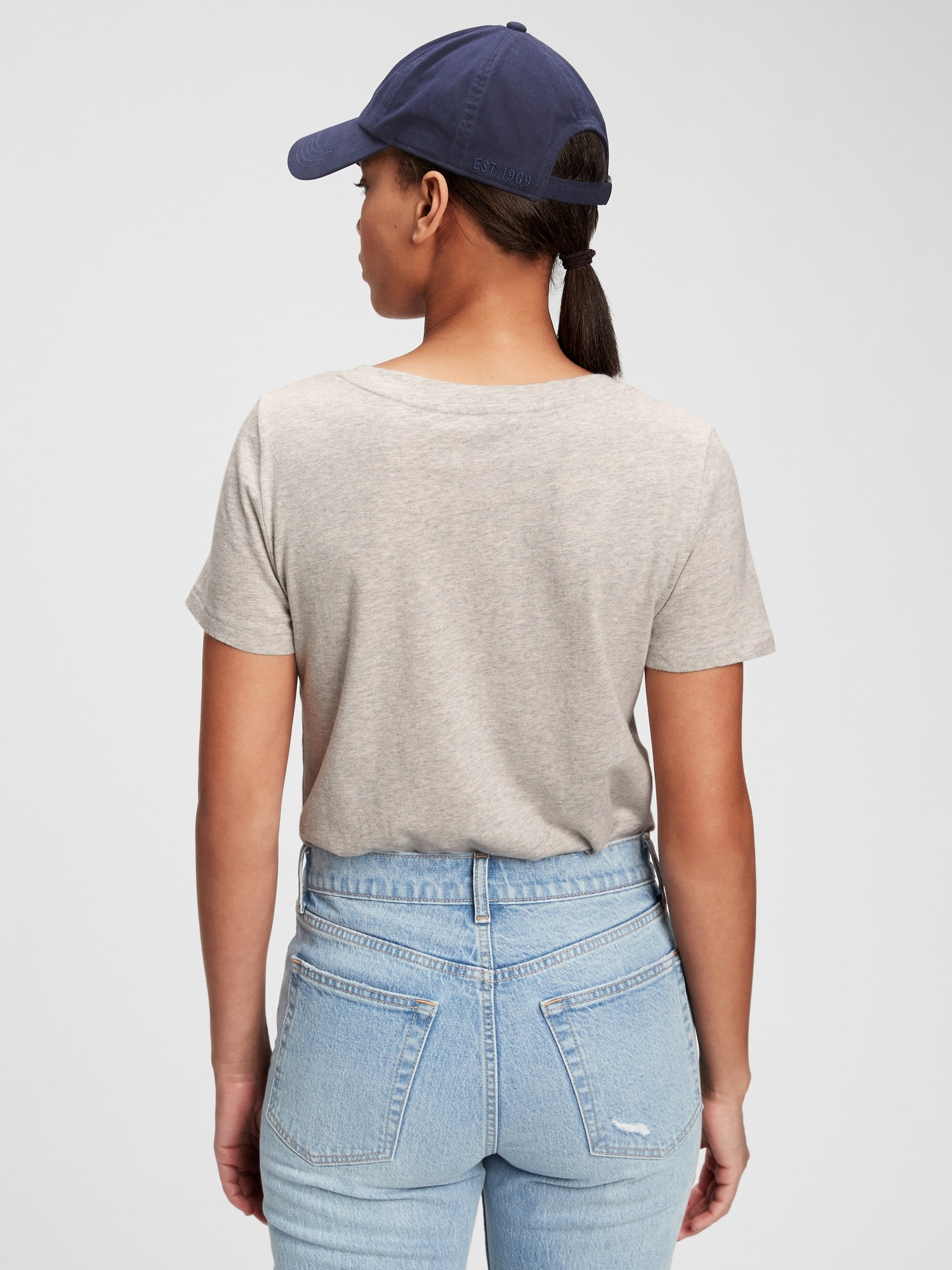 GAP szary koszulka Cotton Vintage
